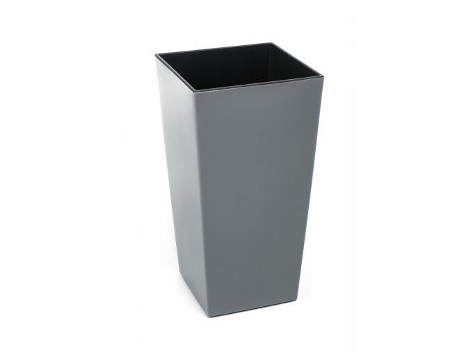 Plastový květináč Finezia 140x140 mm, šedý