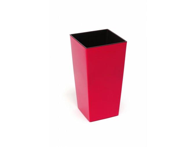 Plastový květináč Finezia 140x140 mm, červený