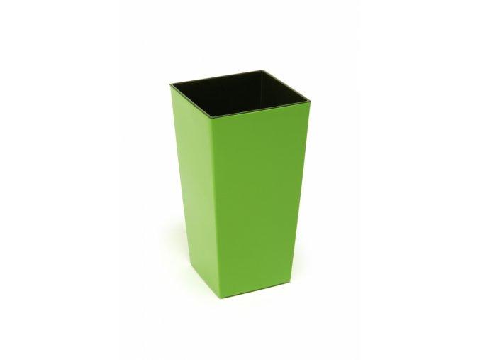 Plastový květináč Finezia 140x140 mm, zelený