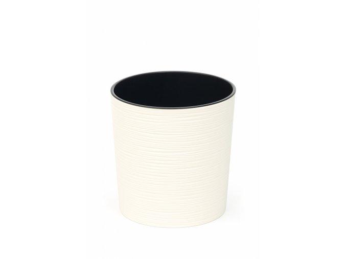 Plastový květináč Malwa 250 mm vroubek, krémový
