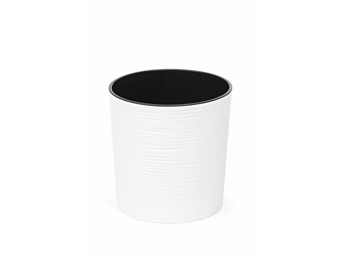 Plastový květináč Malwa 250 mm vroubek, bílý