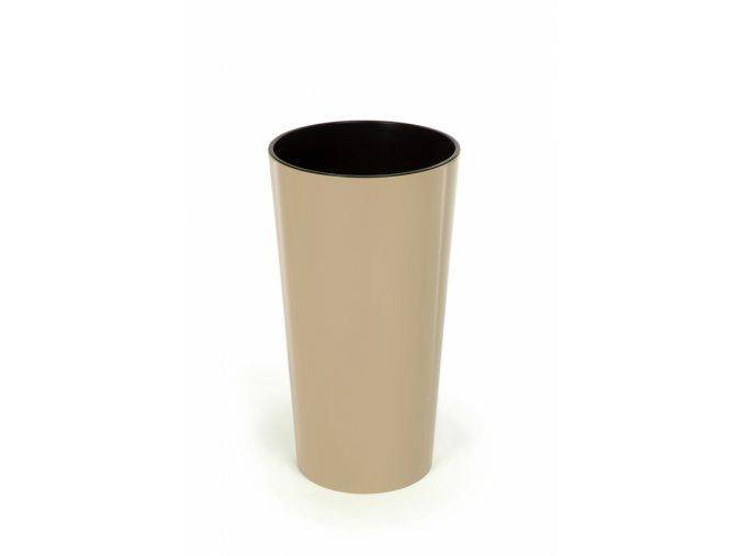 Vysoký květináč Lilia 370 mm, cappuccino