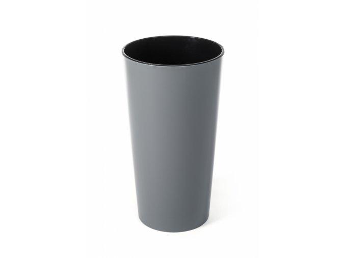 Plastový květináč Lilia 465 mm, šedý
