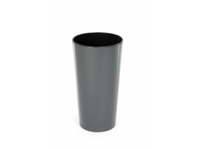 Plastový květináč Lilia 465 mm, antracit