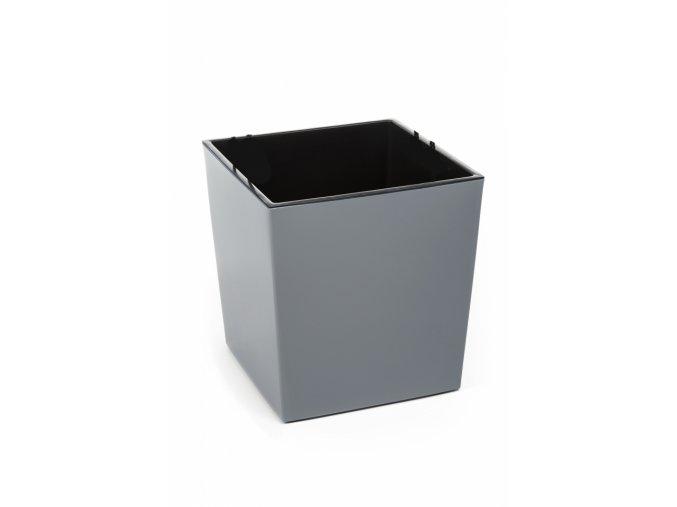 Plastový květináč Juka 250x250 mm, šedý