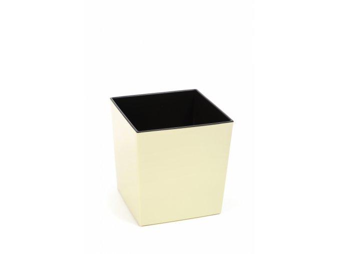 Plastový květináč Juka 250x250 mm, vanilka
