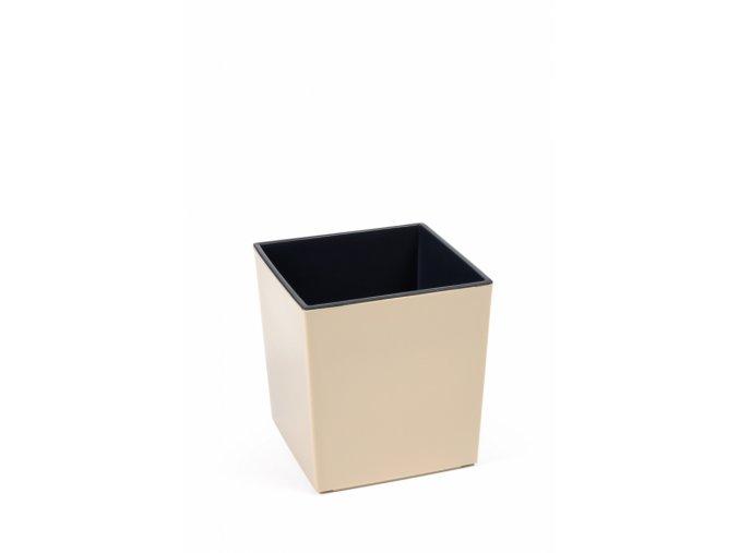 Plastový květináč Juka 300x300 mm, cappuccino