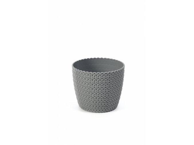 Plastový květináč Magnolia Jersey 110 mm, šedý