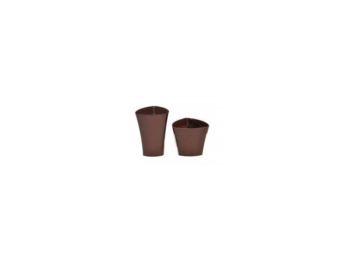 Plastový květináč Wenus 482 mm, hnědý