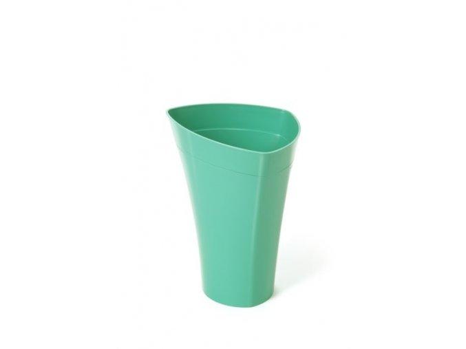 Plastový květináč Wenus 420 mm, smaragd