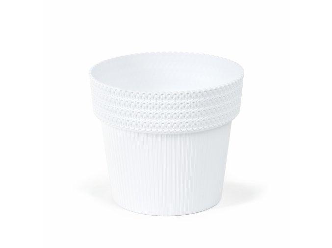 Plastový květináč Pola Jumper 200 mm, bílý