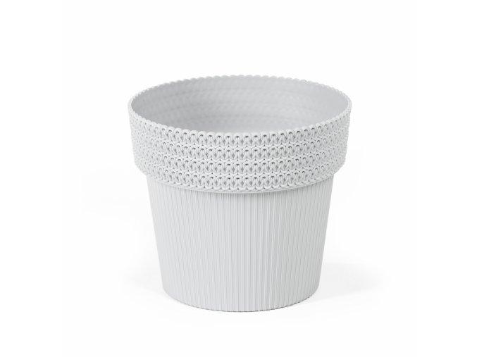 Plastový květináč Pola Jumper 200 mm, světle šedý