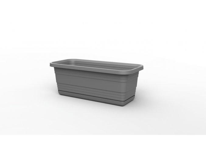 Plastový truhlík Bona s podmiskou, 400 mm, antracit