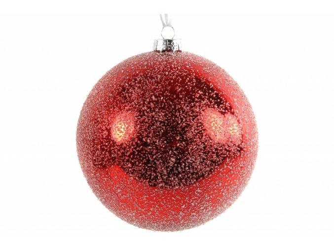 Červená vánoční baňka Mirte XL