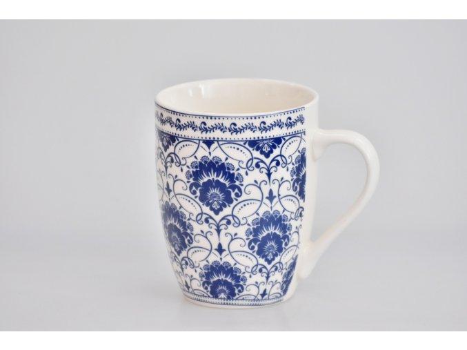 Porcelánový hrnek - modrý dekor II