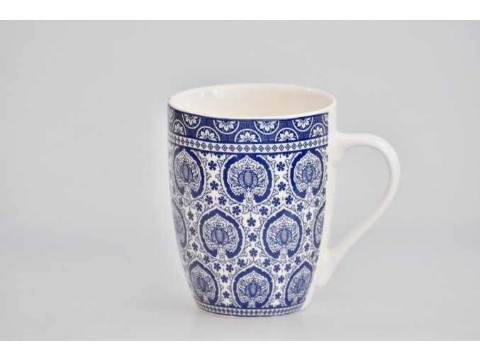 Porcelánový hrnek - modrý dekor III