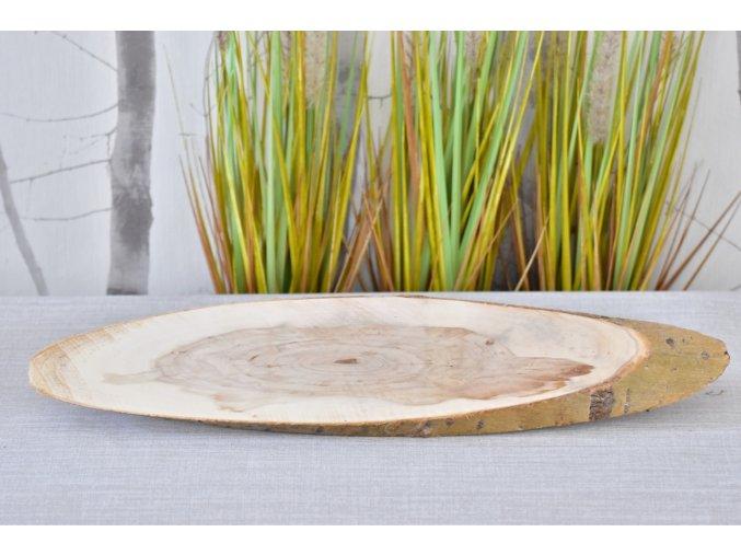 Dřevěná podložka Paulownia L, 48-53x12x2 cm