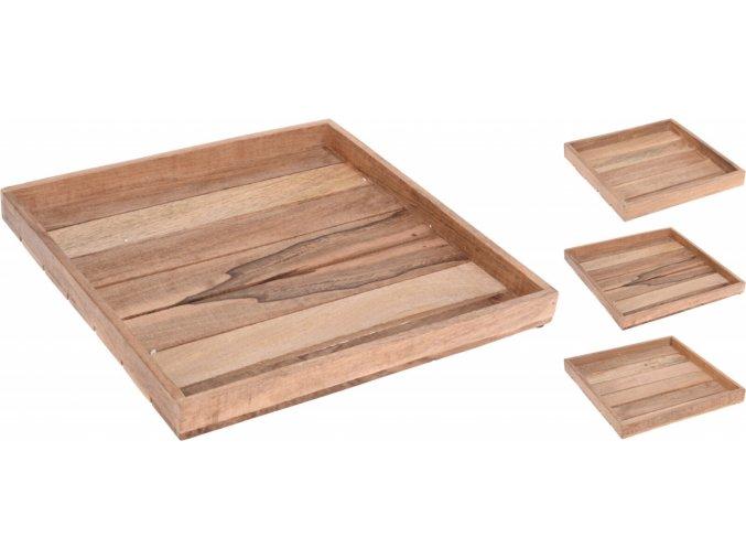 Dřevěný tác Mango sada 3 ks