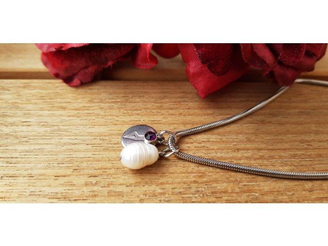 Harmony Náhrdelník (nerez.ocel, perla)1