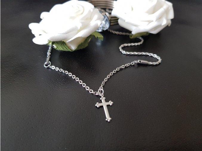 Křížek Náhrdelník (chirurgicka a nerezová ocel)1