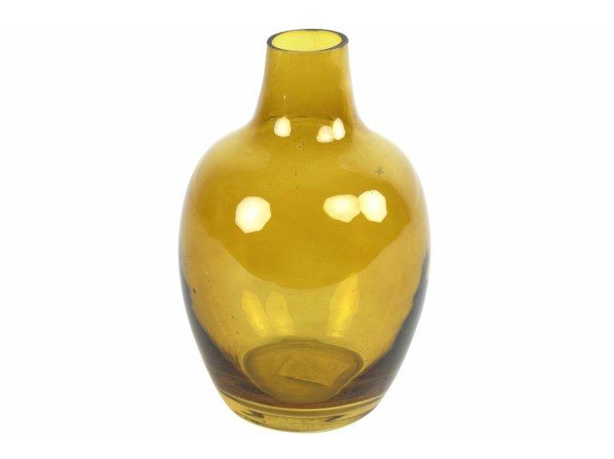 Skleněná váza 18x12 cm, jantarová