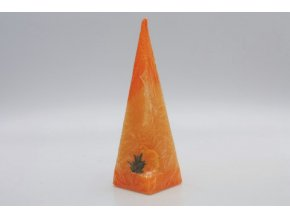 Velikonoční Pyramida - svíčka  kuře, pozadí oranžové