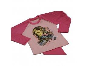 Dětské pyžamo vel.128 růžové, HANNAH MONTANA 2 ks