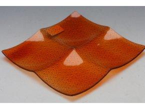 Skleněný svícen 1 oranžový