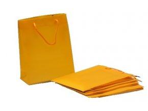 Dárková taška plastová 34x27x9cm oranžová