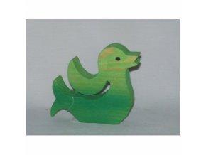 Dřevěná zvířatka zelená kačena-2 ks