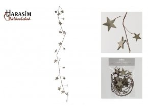 Závěsná dekorace hvězda - šedá