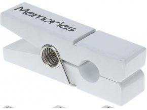 Maxi dekorativní kolíček, bílý Memories poslední 1 ks