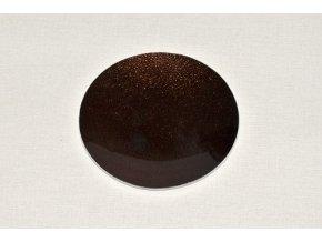 Skleněný tác 15 cm, hnědý s perletí