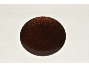 Skleněný tác 20 cm, hnědý s perletí