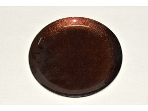 Skleněný tác 25 cm, hnědý s perletí