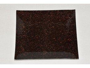 Skleněný tác 24,5 x 24,5 cm, hnědý mražený