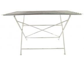 Skládací kovový stůl, bílý