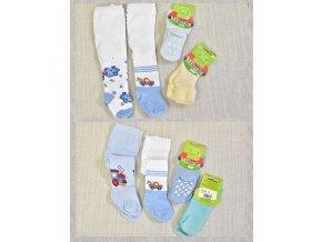 Dětské punčocháče chlapecké 2x, ponožky 2x
