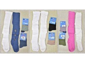 Sada dětské punčocháče vel. 116-134 2 ks, ponožky vel. 23-26 2 ks