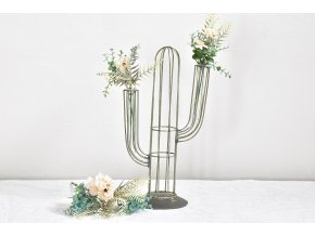 Kovová váza kaktus L