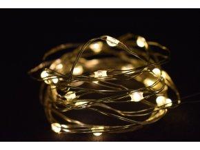 Světelný řetěz s časovačem 200 cm, 40LED teplé bílé světlo