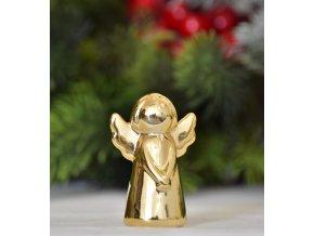 Keramický anděl zlatý 11,5 cm