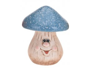 Keramický hříbek modrý 19,5 cm