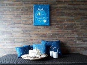 Paní Modrýsková ze země Pohoda (akryl na plátně)