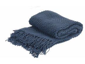 Pléd modrý 130x170 cm