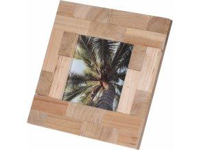 Dřevěný fotorámeček 17x17 cm
