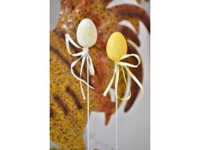 Plastová vajíčka na špejli, květinový motiv s/12, 4 cm