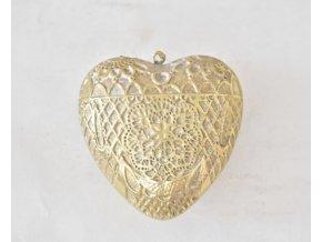 Dekorace srdce Ornament Gold M