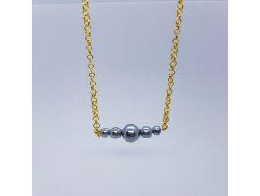 Náhrdelník 2 (bižuterní kov, voskové perle)1