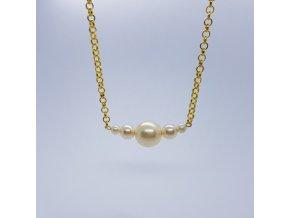 Náhrdelník 5 (bižuterní kov, voskové perle)1